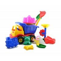 儿童软胶沙滩玩具车室外挖沙铲水桶套装宝宝戏水夏天玩具批发