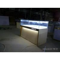新款华为荣耀手机展示柜台玻璃定制靠墙不锈钢体验台配件柜