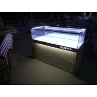 厂家直销玻璃柜台手机配件柜饰品展示柜钛合金双层玻璃展柜