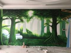 枣庄墙绘 网咖墙绘 网吧手绘3D壁画  手绘墙绘 网吧壁画