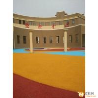 彩色透水混凝土 ,彩色压模地坪直销